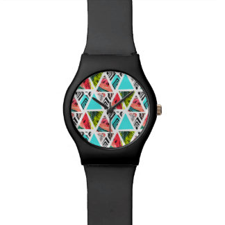 Colorful Abstract Tropical Pattern Watch