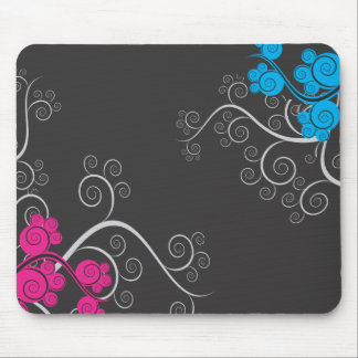 Colorful Abstract Vines Mouse Pad