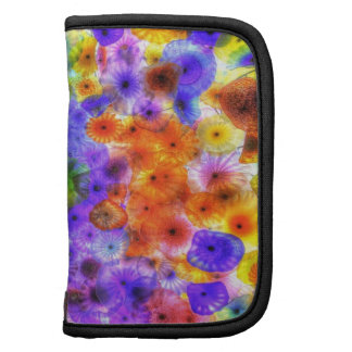 Colorful abstract water elements design folio planner