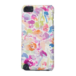 Colorful Abstract Watercolor Floral Pattern iPod Touch 5G Covers