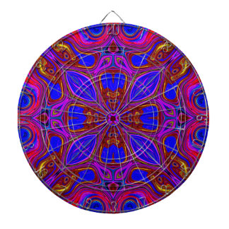 Colorful Abstract Wave Dartboard