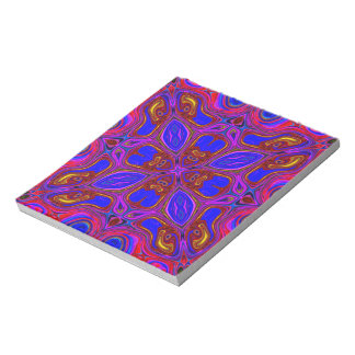 Colorful Abstract Wave Notepad