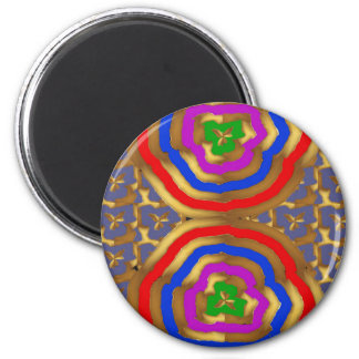 Colorful Abstract Wave Pattern artistic gifts 6 Cm Round Magnet