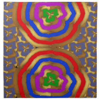 Colorful Abstract Wave Pattern artistic gifts Cloth Napkins