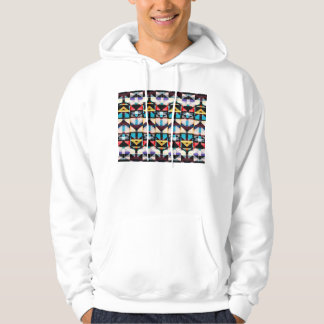 Colorful Abstract Weave Pattern Hoodie