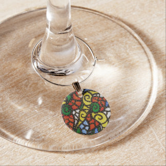 Colorful Abstract Wine Charm
