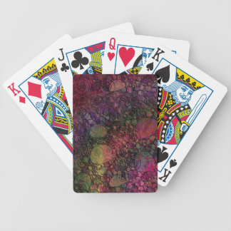 Colorful Abstract with Black & Grungy Circles Bicycle Playing Cards