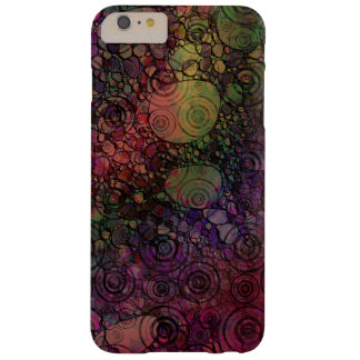 Colorful abstract with grungy circles barely there iPhone 6 plus case