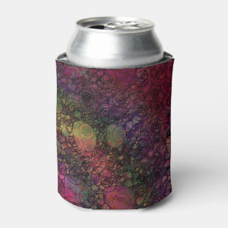 Colorful abstract with grungy circles can cooler