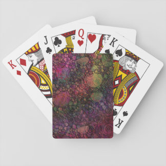 Colorful abstract with grungy circles poker deck
