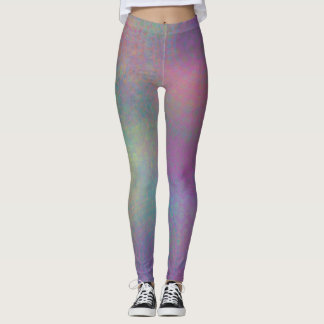 Colorful Abstract with Patterns & Grungy Texture Leggings