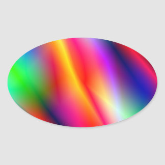 Colorful Abstraction Oval Sticker Stickers