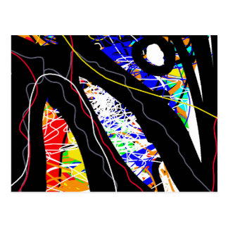 colorful abstraction postcard
