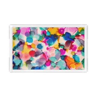 colorful acrylic tray