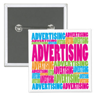 Colorful Advertising 15 Cm Square Badge