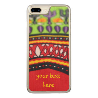 Colorful African fabric PhoneCase  -- Customizable Carved iPhone 7 Plus Case