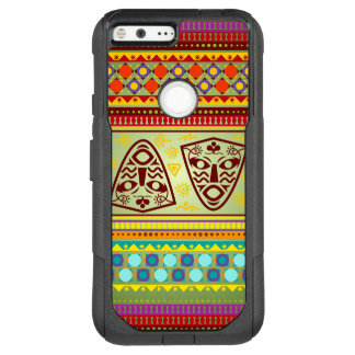 Colorful African Masks Stripe Kente Pattern OtterBox Commuter Google Pixel XL Case