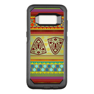 Colorful African Masks Stripe Kente Pattern OtterBox Commuter Samsung Galaxy S8 Case