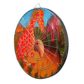 Colorful  African wild animal safari colors Dartboard