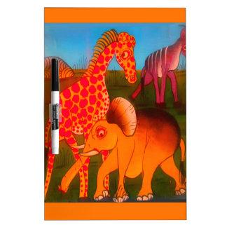 Colorful  African wild animal safari colors Dry Erase Board