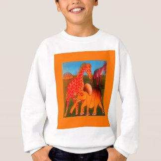 Colorful  African wild animal safari colors Sweatshirt