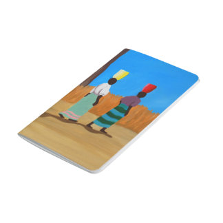 Colorful African Women Carrying Buckets Journal