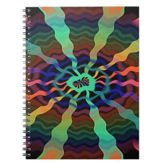 Colorful Airwaves Spiral Notebook