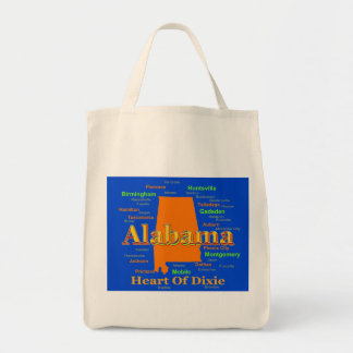Colorful Alabama State Pride Map Bags