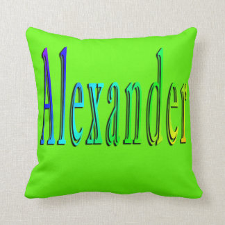 Colorful Alexander Name Logo, Cushion