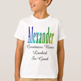 Colorful Alexander Name Logo, T-Shirt