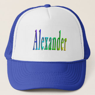 Colorful Alexander Name Logo, Trucker Hat