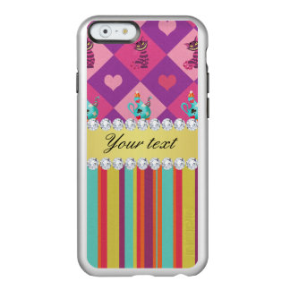 Colorful Alice in Wonderland and Stripes Incipio Feather® Shine iPhone 6 Case