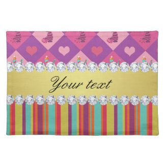 Colorful Alice in Wonderland and Stripes Placemat