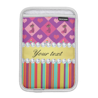Colorful Alice in Wonderland and Stripes Sleeve For iPad Mini