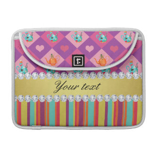 Colorful Alice in Wonderland and Stripes Sleeve For MacBooks