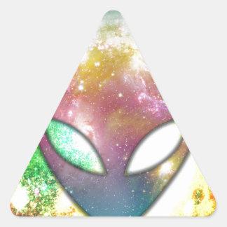 Colorful Alien Triangle Sticker