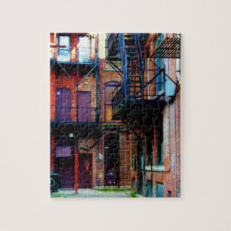Colorful Alley in Oneonta NY Jigsaw Puzzle