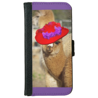 Colorful Alpaca iPhone 6 Wallet Case