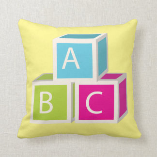 Colorful Alphabet blocks Cushion