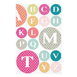 Colorful Alphabet Custom Stationery