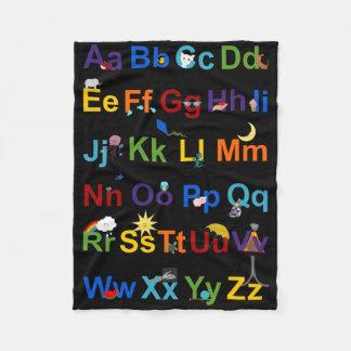 Colorful Alphabet Fun Fleece Blanket