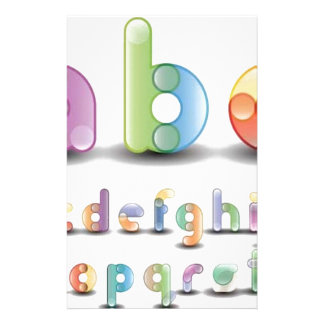Colorful alphabet letters custom stationery