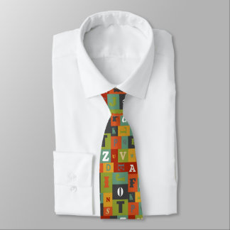 Colorful Alphabet Pattern Tie