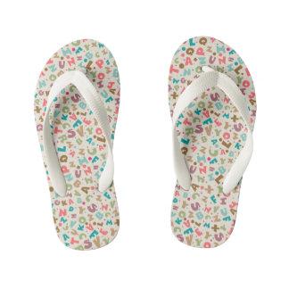 Colorful Alphabet Sandals Thongs