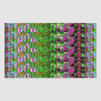 COLORFUL AMAZON WILD PATTERN RECTANGLE STICKER