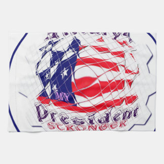 Colorful American Flag Colors Hillary for USA Pres Kitchen Towel