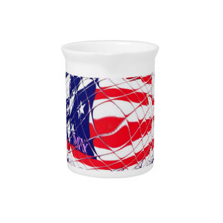 Colorful American Flag Colors Hillary for USA Pres Pitchers