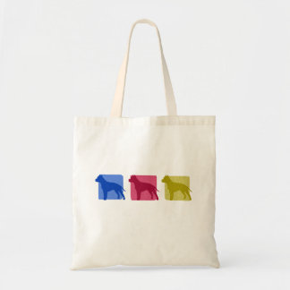 Colorful American Staffordshire Terrier Silhouette Budget Tote Bag