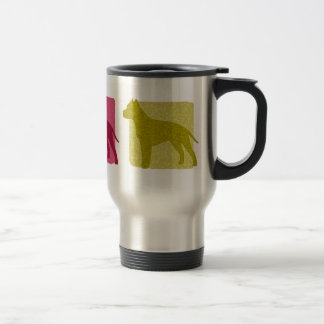Colorful American Staffordshire Terrier Silhouette Travel Mug