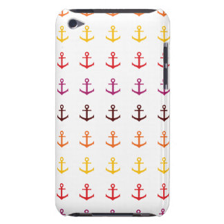 Colorful anchor pattern barely there iPod cover